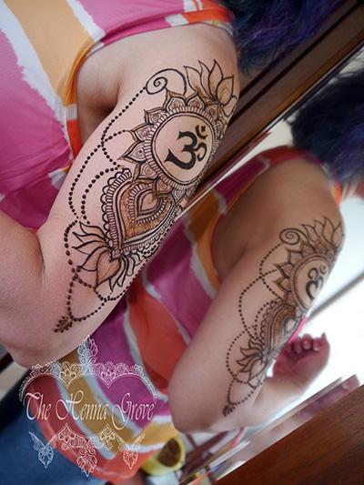 Om-mandala henna